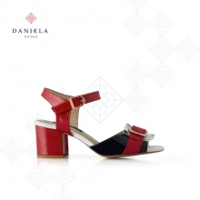 COMBINED SANDAL IN PATENT LEATHER