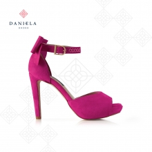 SUEDE SANDAL WITH BOW