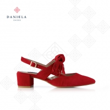 SUEDE SHOE WITH BOW
