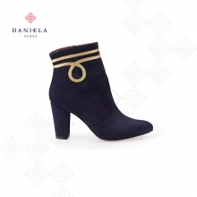 BLUE BOOTS WITH GOLDEN DETAIL